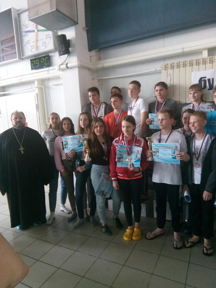 В Городищенском благочинии проведены соревнования по плаванию «Кубок Георгия Победоносца»